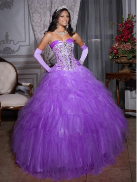 Discount 2012 Lovely ball gown sweetheart-neck floor-length quinceanera dresses 26695
