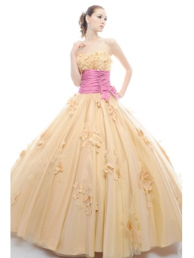 Discount 2012 Luxurious Ball gown Strapless Floor-length Quinceanera Dresses Style 3164