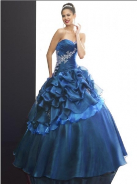 Discount 2012 New style ball gown sweetheart-neck floor-length quinceanera dresses Q511