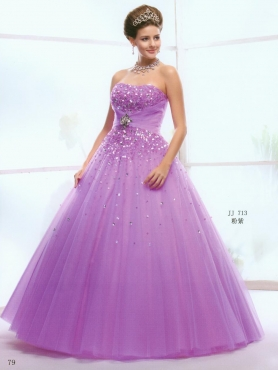 Discount 2012 Popular Ball gown Strapless Floor-length Quinceanera Dresses Style AFJJ713