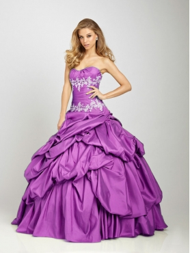 Discount 2012 Pretty ball gown sweetheart-neck floor-length quinceanera dresses Q322