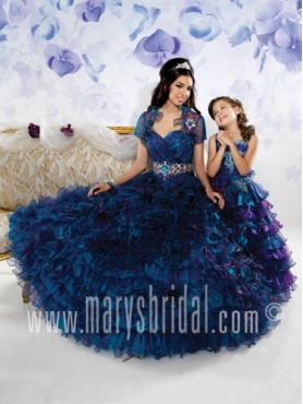 Discount 2012 Romantic Ball gown Sweetheart Floor-length Quinceanera Dresses Style S12-4090