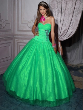 Discount 2012 Wonderful ball gown sweetheart-neck floor-length quinceanera dresses 56205