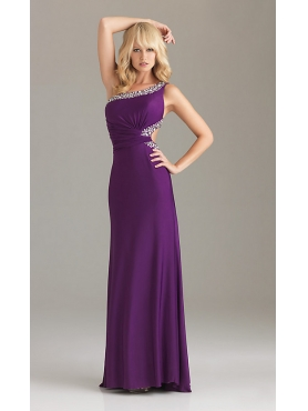 Discount Night Moves Backless One Shoulder Night Moves Gown NM-6437