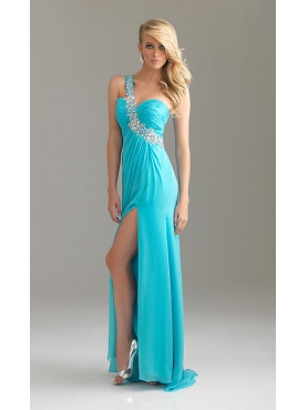 Discount One Shoulder Prom Dress by Night Moves 6424