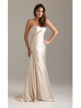 Discount Strapless Beaded Evening Gown by Night Moves 6489