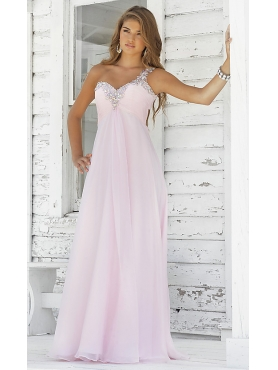 Discount Long One Shoulder Formal Gown  by Blush 9373