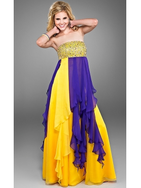 Discount Loose Fitting Two Toned Prom Dress by Landa Cire PC199