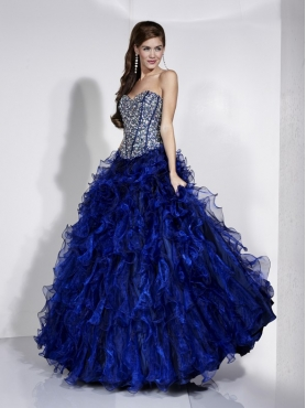 Discount 2012 Beautiful Ball gown Strapless Floor-length Quinceanera Dresses Style 16885