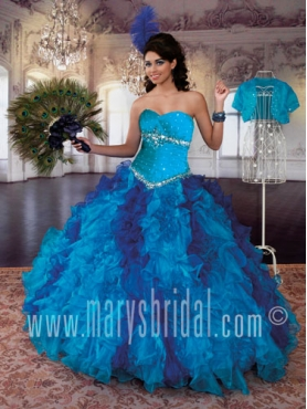 Discount 2012 Exclusive Ball gown Sweetheart Floor-length Quinceanera Dresses Style S12-4Q770