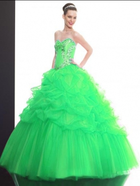Discount 2012 Great ball gown sweetheart-neck floor-length quinceanera dresses Q504