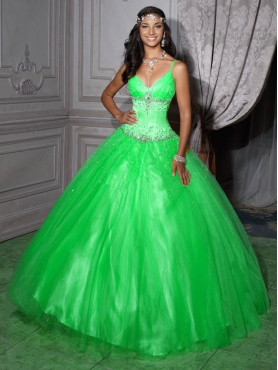 Discount 2012 Lovely ball gown v-neck floor-length quinceanera dresses 56207