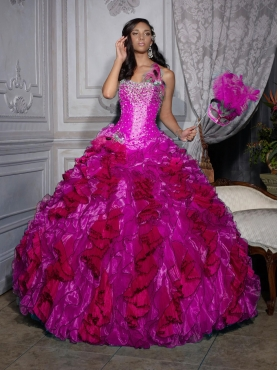 Fuchsia Quinceanera Dresses 2012 2012 Luxurious ball gown