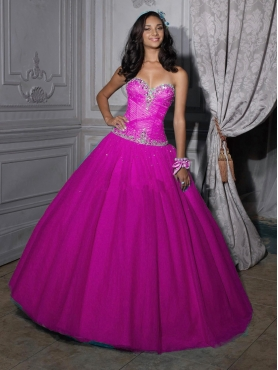 Discount 2012 New Style ball gown sweetheart-neck floor-length quinceanera dresses 56203