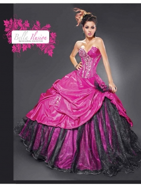 Discount 2012 New style ball gown sweetheart-neck floor-length quinceanera dresses 7056