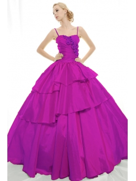 Discount 2012 Pretty Ball gown Strap Floor-length Quinceanera Dresses Style 3159