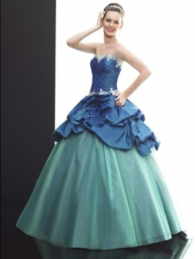 Discount 2012 Special ball gown sweetheart-neck floor-length quinceanera dresses Q510