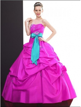 Discount 2012 Wonderful ball gown sweetheart-neck floor-length quinceanera dresses Q500