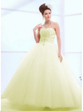 Discount Beautiful ball gown strapless floor-length quinceanera dresses 1617