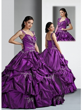 Discount Brand New ball gown straps floor length quinceanera dresses  Style 80017