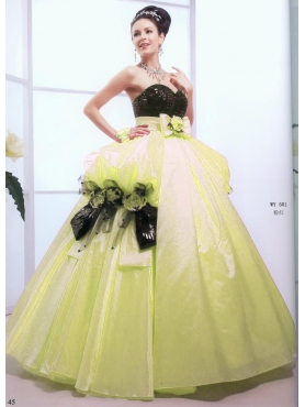 Discount Popular ball gown sweetheart-neck floor-length quinceanera dresses 1627