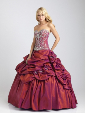 Discount 2012 Great ball gown sweetheart-neck floor-length quinceanera dresses Q328