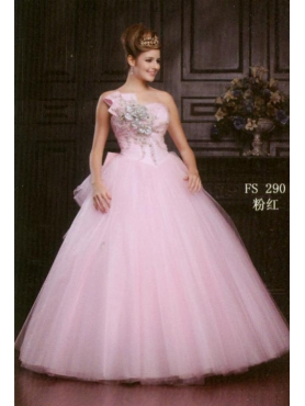 Discount 2012 Latest Ball gown Strapless Floor-length Quinceanera Dresses Style AFFS290