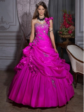 Discount 2012 Perfect ball gown one shoulder floor-length quinceanera dresses 26691