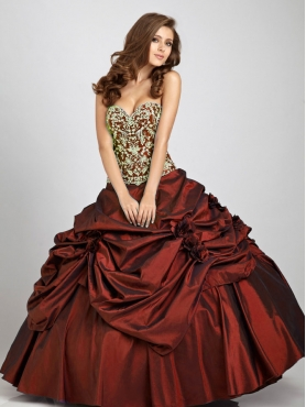 Discount 2012 Wonderful ball gown sweetheart-neck floor-length quinceanera dresses Q325