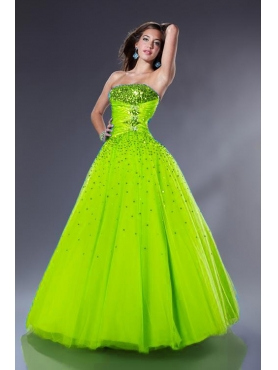 Discount Elegant ball gown strapless floor-length quinceanera dresses 1610