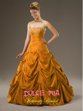 Discount Fascinating ball gown strapless floor-length sleeveless formal prom dress Dulce Mia 971714