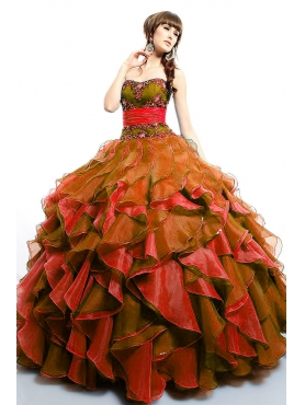 Discount Luxurious ball gown strapless floor-length 2011 Fifteen by Precious Formals Quinceanera Dress Q50000