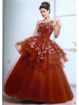 Discount Special ball gown strapless floor-length quinceanera dresses 1615