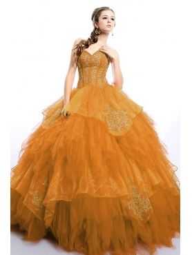 Discount Special ball gown sweetheart-neck floor-length quinceanera dresses STYLE 3153
