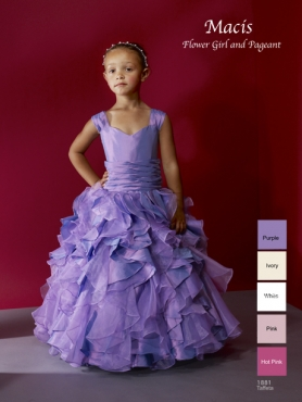 Discount 2012 Amazing Purple A-Line Sweetheart Floor-length Flower Girl Dresses Style 1881