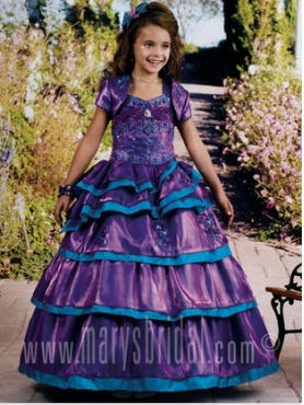 Discount 2012 Amazing Purple Ball Gown Sweetheart Floor-length Flower Girl Dresses Style F11-F964