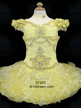 Discount 2012 Gorgeous Yellow Ball gown Off the shoulder Short Flower Girl Dresses Style D101