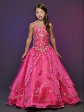 Discount 2012 Pretty Red Ball gown Strap Floor-length Flower Girl Dresses Style 526