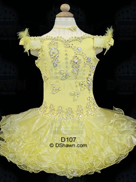 Discount 2012 Pretty Yellow Ball gown Off the shoulder Short Flower Girl Dresses Style D107