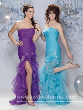 Discount Column Strapless Homecoming Dresses Style F12-P3303