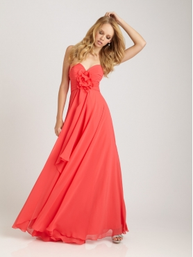 Discount Empire Sweetheart Floor-length Bridesmaid Dress Style 1265
