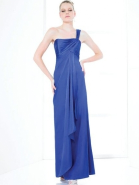 Discount One Shoulder Neck Floor-length Bridesmaid Dresses Style MT9108