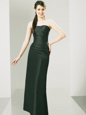 Discount Strapless Floor-length Bridesmaid Dresses Style MT8904
