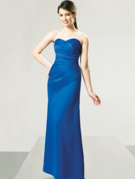 Discount Strapless Floor-length Bridesmaid Dresses Style MT8908