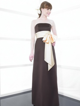 Discount Strapless Floor-length Sash Bridesmaid Dresses Style MT9135