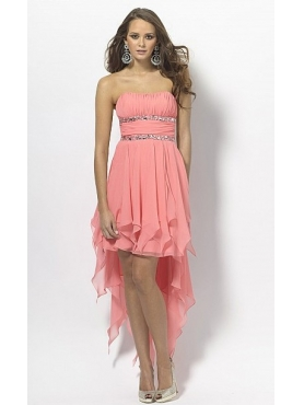 Discount Strapless High-low Homecoming Dresses Style 50133