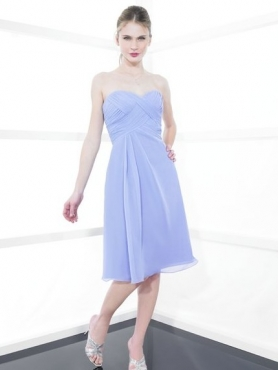 Discount Strapless Knee-length Bridesmaid Dresses Style MT9138
