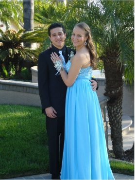 Discount Aqua Blue Empire Sweetheart Prom Dress