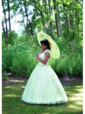Discount Beautiful Ball Gown One shoulder Quinceanera Dress