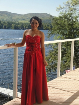 Discount Beautiful Sweetheart Red Prom Dress